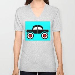 Black Car Two Directions Unisex V-Neck