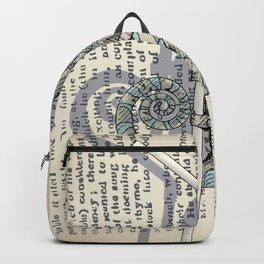 Newspaper chameleon Backpack