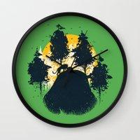 wildlife Wall Clocks featuring Wildlife Habitat by carbine