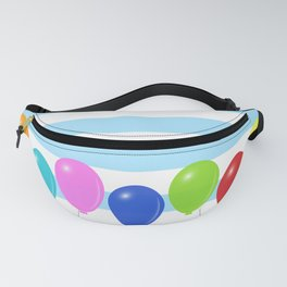 Balloons on striped background Fanny Pack
