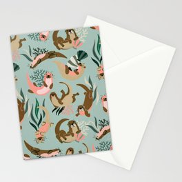 Otter Collection - Mint Palette Stationery Cards