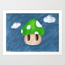 1Up in the Sky Art Print