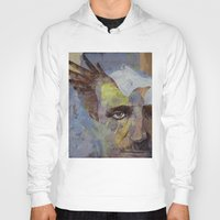 poe Hoodies featuring Poe by Michael Creese