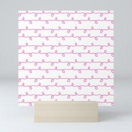 Mariniere and wave 6 pink Mini Art Print