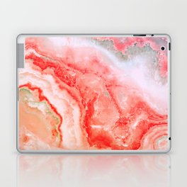 Luxury LIVING CORAL Agate Marble Geode Gem Laptop & iPad Skin