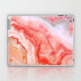 Luxury LIVING CORAL Agate Marble Geode Gem Laptop & iPad Skin
