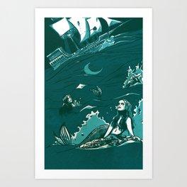 Zodiac Pisces Art Print