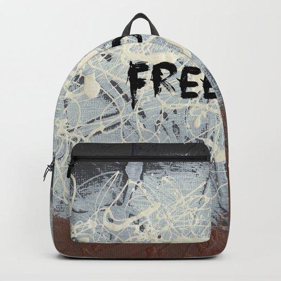 Freedom Pollock Rothko Inspired Black White Red - Modern Backpack