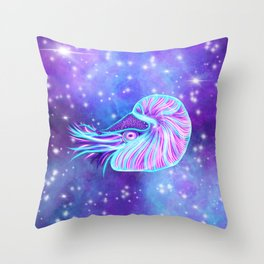 The Celestial Chambered Nautilus Throw Pillow