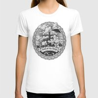 lotr T-shirts featuring Lord of the Rings Mordor Tower Vintage Geek Art by Barrett Biggers