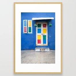 Colorful Indian Door Framed Art Print