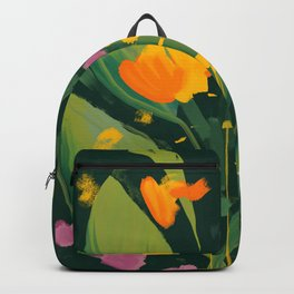 Abstract Floral Evening Backpack