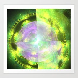 fractal: future that once was Art Print