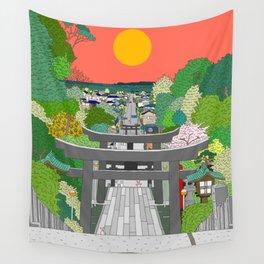 Passage to Light - Miyajidake Shrine Wall Tapestry