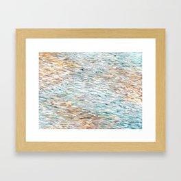 Sand And Sea Framed Art Print