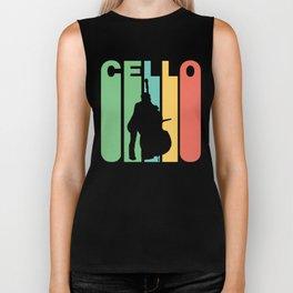 Retro Style Cello Player Cellist Musician Biker Tank