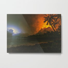 Ring Of Fire Night Metal Print