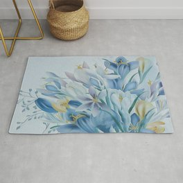 Lovely Spring Crocus Rug