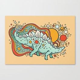 Star Stego   Retro Reptile Palette Canvas Print