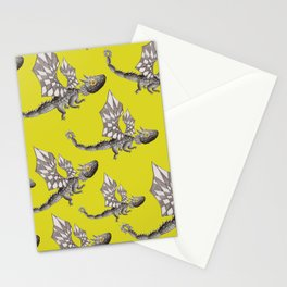 Lemons and dragons pattern Stationery Cards