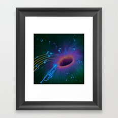 Music Void - Illustration Framed Art Print
