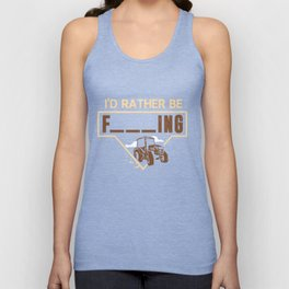 Mens I'd Rather Be Farming Tractor Design For A Hobby Farmer product Unisex Tank Top