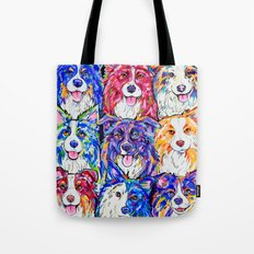 Collies in Colour Tote Bag