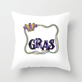 Mardi Gras Festival Street Party Carnival Gift Throw Pillow