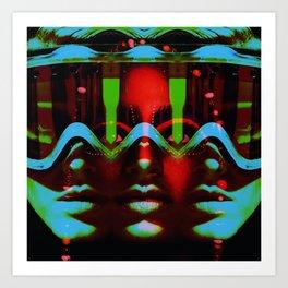 ThreeFaces Art Print