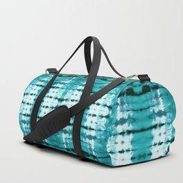 Aqua Satin Shibori Duffle Bag