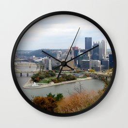 Downtown Pittsburgh in the Fall 23 Wall Clock