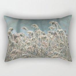 Frost on Grass Rectangular Pillow