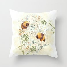 & the Bees Throw Pillow