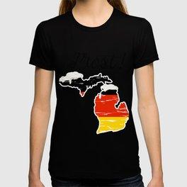 Drinking Beer Michigan Prost German Oktoberfest T-shirt