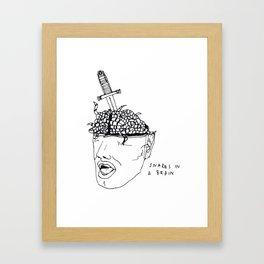 Snakes In A Brain Framed Art Print