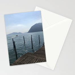 Sparkling lake Monte Isola Stationery Cards