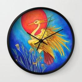 Ra as the Bennu Bird Wall Clock
