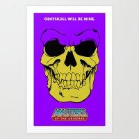 skeletor Art Prints featuring Skeletor by Dukesman