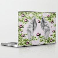angel wings Laptop & iPad Skins featuring angel wings by karens designs