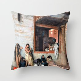 Jean-Leon Gerome - The Slave Market - Digital Remastered Edition Throw Pillow