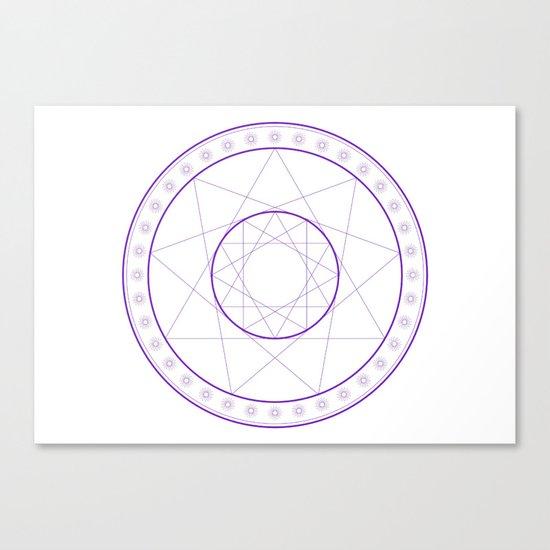 Anime Magic Circle 8 Canvas Print