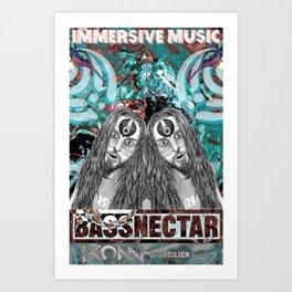 Bassnecter Art Print