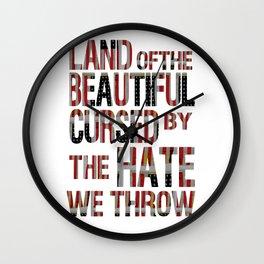 National Anthem Wall Clock