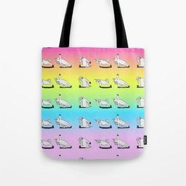 Unicorn Yoga Pattern Rainbow Tote Bag