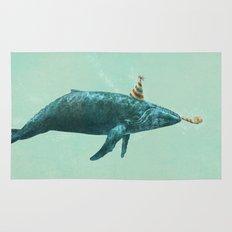 Party Whale - colour option  Rug