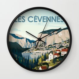 Alone in Nature - Les Cévennes Wall Clock
