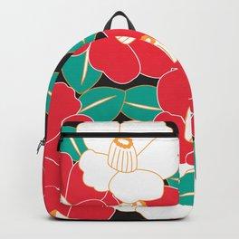 Shades of Tsubaki - Red & Black Backpack