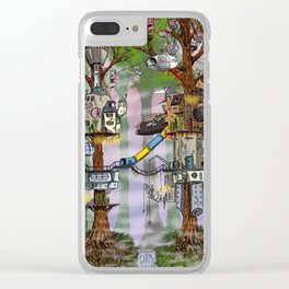 Modern Pixie Kingdom Clear iPhone Case