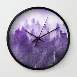 Ultra Violet Adventure Forest Wall Clock