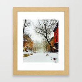 NYC @ Snow Time Framed Art Print